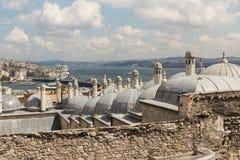 Ansicht von Istanbul in Richtung zur Bosphorus Brücke und dem Asien Lizenzfreies Stockfoto