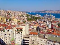 Ansicht von Istanbul-Stadtbild Stockbilder