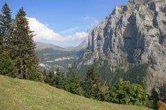Ansicht von Jungfrau von Murren die Schweiz Stockfotos
