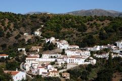 Ansicht von Juzcar, Andalusien, Spanien. Stockfoto