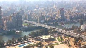 Ansicht von Kairo-Turm - Ägypten volles VIDEOHD 1080 stock video