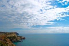 Ansicht von Kap Fiolent-Meer, Ukraine Krim lizenzfreie stockbilder