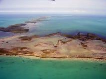 Ansicht von karibischem Meer in Belize lizenzfreies stockbild