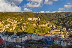 Ansicht von Karlovy Vary lizenzfreie stockbilder