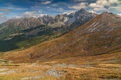 Ansicht von Kasprowy Wierch in hohen Tatra-Bergen, Polen stockfotos
