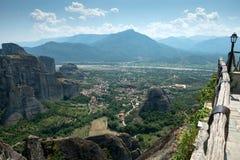 Ansicht von Kastraki-Dorf Stockfotos