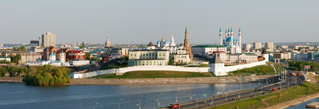 Ansicht von Kazan Kremlin Stockbilder
