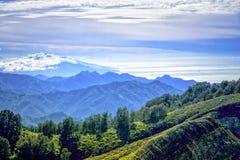 Ansicht von Kelimutu-Aussicht Stockbild
