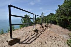Ansicht von Keluang-Hügeln, Terengganu, Malaysia über Südchinesisches Meer Lizenzfreie Stockfotos