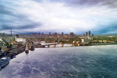 Ansicht von Kiew Stockbild
