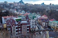 Ansicht von Kiew vom Schloss-Hügel stockfotos