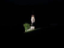 Ansicht von Kirche Sans Valentino bis zum Nacht Stockfoto