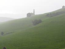 Ansicht von Kirche Sans Valentino an einem regnerischen Tag Stockbilder