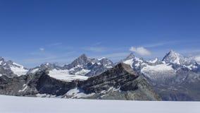 Ansicht von Klein Matterhorn Lizenzfreies Stockfoto