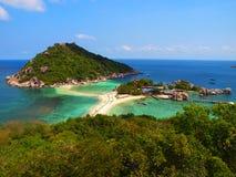 Ansicht von Koh Nang Yuan Stockbild