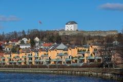 Ansicht von Kristiansten-Festung stockfotografie