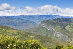 Ansicht von Kuelap-Festung in die Berge Stockfoto