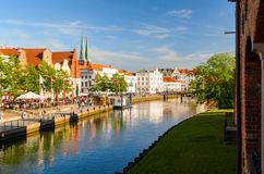 Ansicht von Lübeck, Deutschland Stockbilder