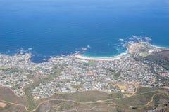 Ansicht von Lagern bellen, Cape Town, das den Atlantik, von der Spitze gegenüberstellt Stockbilder