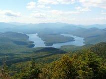 Ansicht von Lake Placid vom Whiteface Berg, Adiro Lizenzfreie Stockbilder