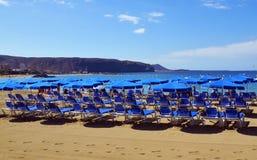 Ansicht von Las Amerika setzen in Süd-Teneriffa, Kanarische Inseln, Spanien auf den Strand Lizenzfreies Stockfoto