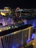 Ansicht von Las Vegas-Streifen vom Eiffelturm Stockfotos