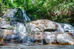 Ansicht von Laurel Falls in Nationalpark Great Smoky Mountains stockfotografie