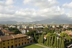 Ansicht von lehnendem Kontrollturm von Pisa Lizenzfreies Stockfoto