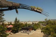 Ansicht von Les bearbeitet de l ` ile zur Thstadt von Nantes maschinell Lizenzfreie Stockfotografie