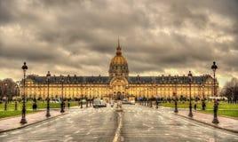 Ansicht von Les Invalides in Paris Stockfotos