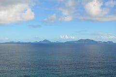 Ansicht von Les Saintes, Guadeloupe lizenzfreie stockbilder