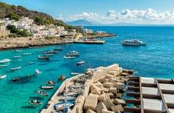 Ansicht von Levanzo-Insel, ist der drei Aegadian-Inseln im Mittelmeer von Sizilien das kleinste Stockfoto