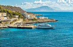 Ansicht von Levanzo-Insel, ist der drei Aegadian-Inseln im Mittelmeer von Sizilien das kleinste Lizenzfreie Stockfotos