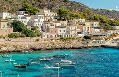 Ansicht von Levanzo-Insel, ist der drei Aegadian-Inseln im Mittelmeer von Sizilien das kleinste Stockbilder