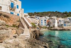 Ansicht von Levanzo-Insel, ist der drei Aegadian-Inseln im Mittelmeer von Sizilien, Italien das kleinste Lizenzfreie Stockfotografie