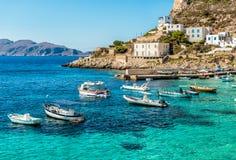 Ansicht von Levanzo-Insel, ist der drei Aegadian-Inseln im Mittelmeer von Sizilien, Italien das kleinste Stockbild