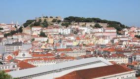 Ansicht von Lissabon stock footage