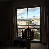Ansicht von Lissabon Riviera vom Hotelzimmer Lizenzfreies Stockfoto