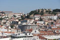 Ansicht von Lissabon-withSt George Castle in Portugal Lizenzfreies Stockfoto