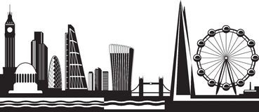 Ansicht von London bis zum Tag Stockfotos