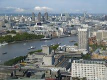 Ansicht von London-Stadt u. Themse Stockbild