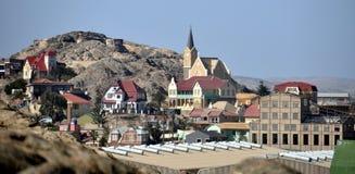 Ansicht von Luderitz in Namibia Lizenzfreie Stockbilder