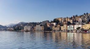 Ansicht von Lugano-Stadt, die Schweiz Stockfotos
