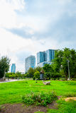 Ansicht von Lumpini-Park, Bangkok Lizenzfreies Stockfoto