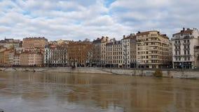 Ansicht von Lyon, Frankreich stock footage