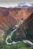 Ansicht von Machu Picchu morgens Lizenzfreies Stockbild