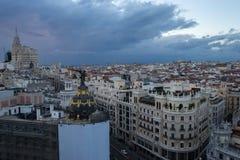 Ansicht von Madrid von artes Circulo de Bellas Stockfotografie