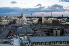 Ansicht von Madrid von artes Circulo de Bellas Stockfotos