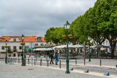Ansicht von Mafra in Portugal stockbild
