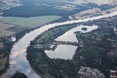 Ansicht von Magdeburg und von Salbker Seen Lizenzfreies Stockfoto